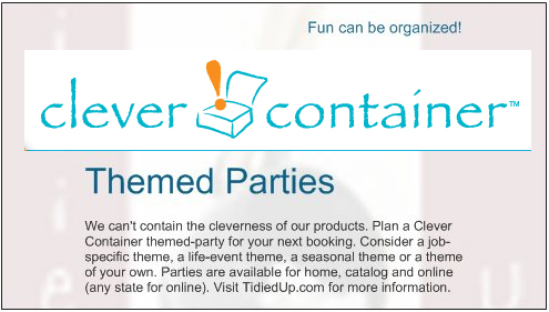 host a clever container party